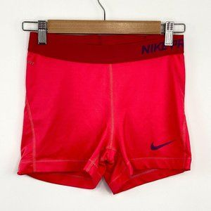 Nike Pro Orange Spandex Compression Shorts M
